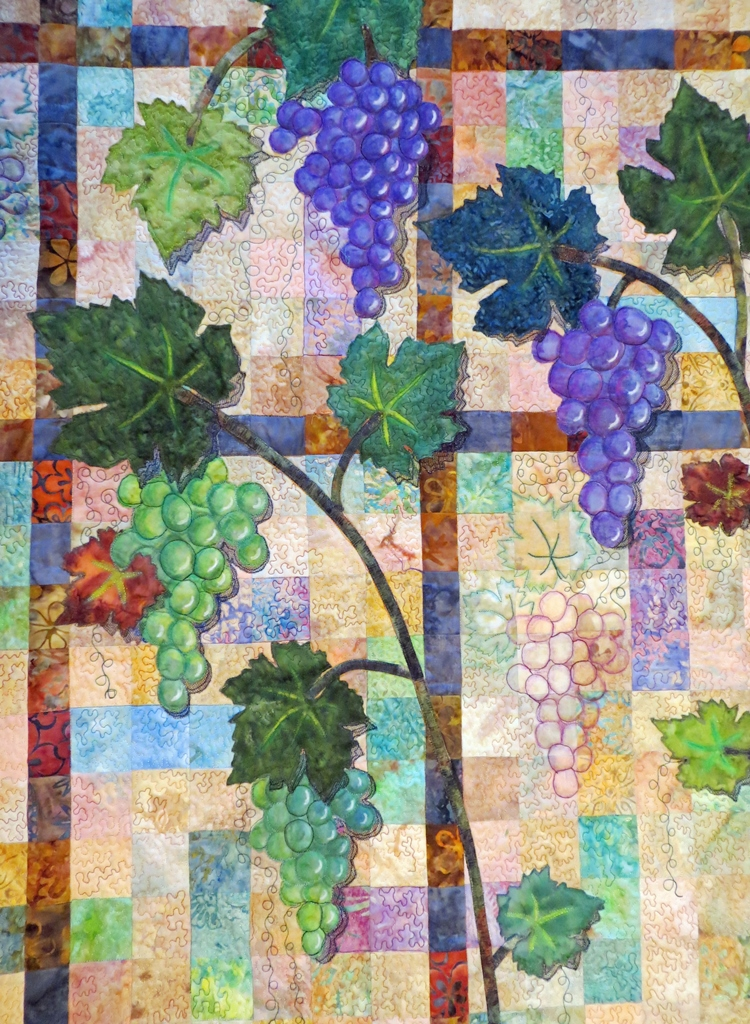 What If Two Roads Are Illusion What If >> Cathy Geier's Quilty Art Blog: Irises and Sonoma County - Two Quilts to Show You