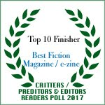 TOP TEN FINISHER BEST FICTION MAGAZINE/EZINE