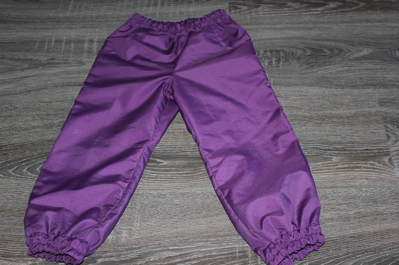 Как сшить детские штаны на резинке из плащевки 75