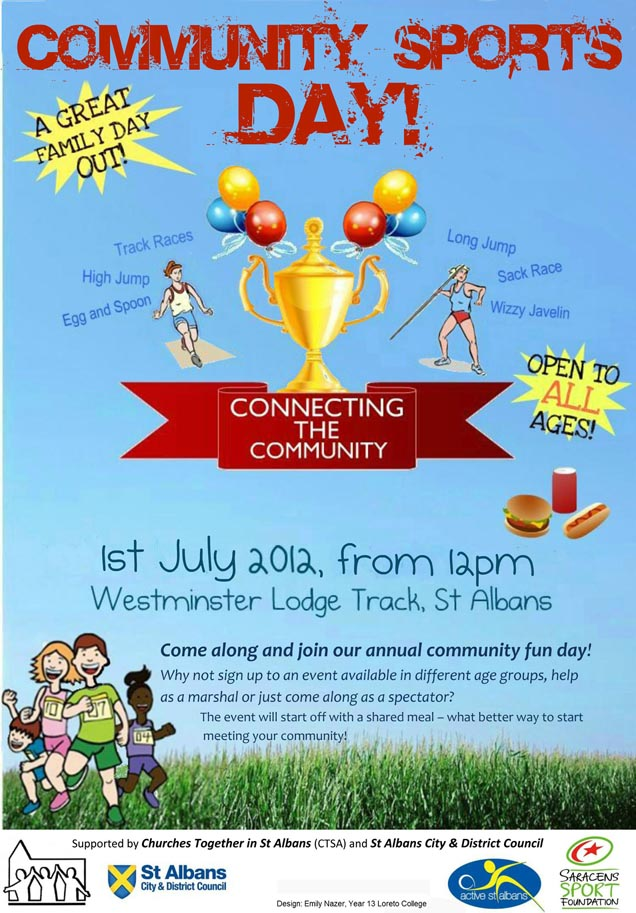 Sports day poster template for Sports day poster template