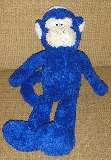 Ah-Ah, o macaquinho azul perdido (e recuperado) de Liam.