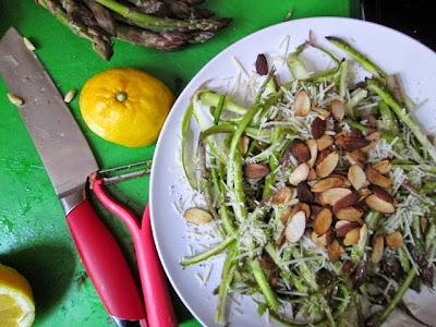 ribboned asparagus salad