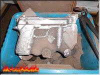 aluminum pistol casting green sand