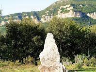 La pedra dreta del Coll de la Pedra Dreta