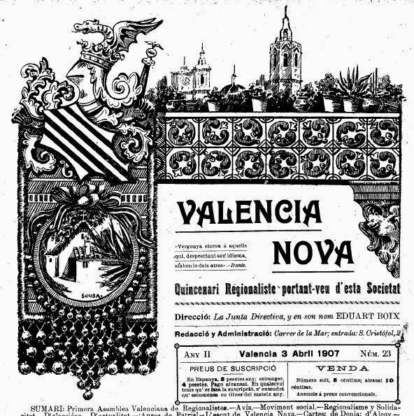 CABECERAS DE PERIÓDICOS VALENCIANOS