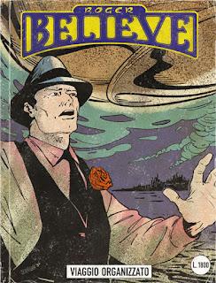 Curio and Co. Curio & Co. www.curioandco.com  - Roger Believe comic book cover - Planed Voyage (Viaggio Organizzato) - Cesare Asaro