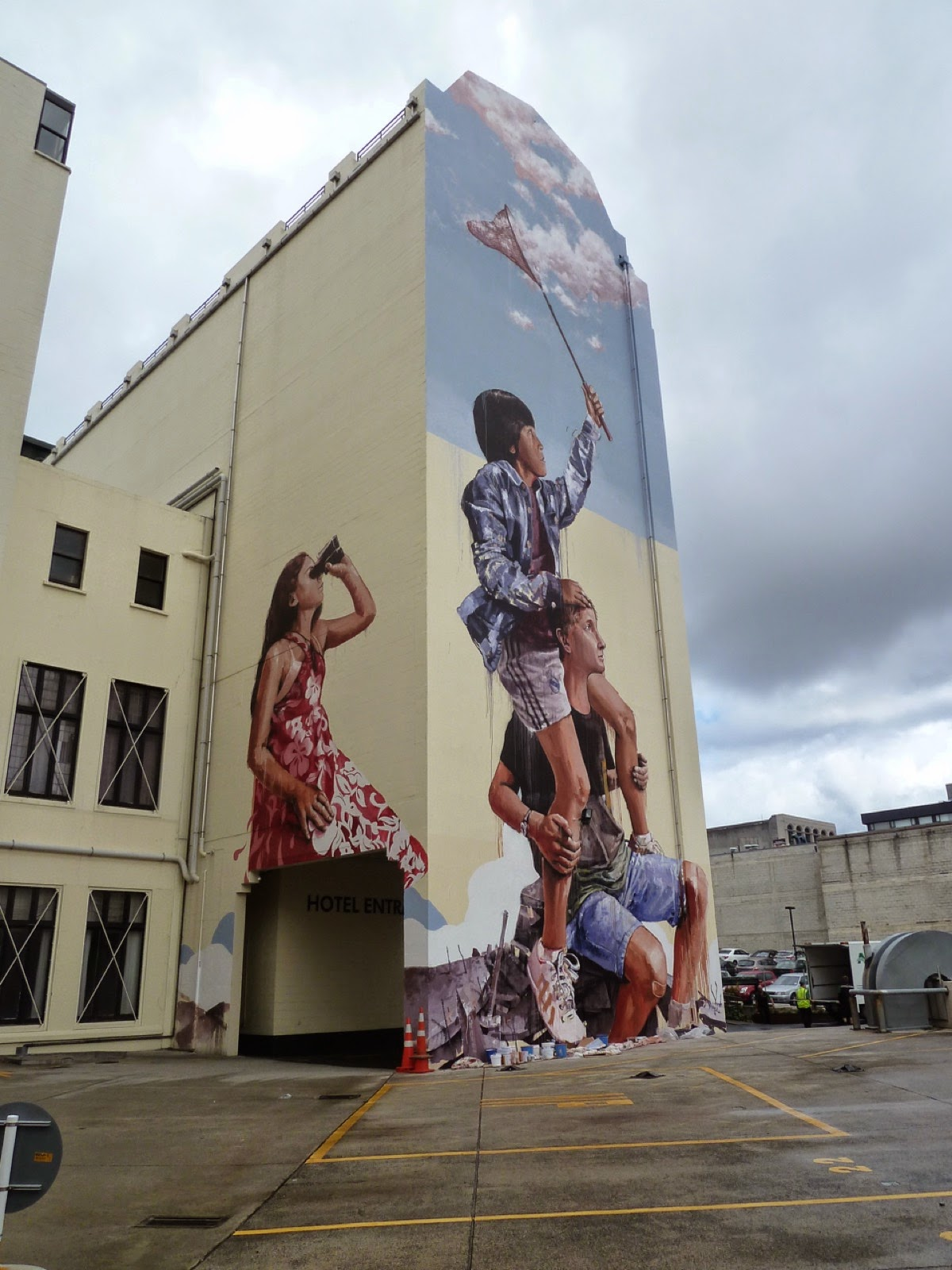 Fintan Magee Creates A New Mural In Dunedin, New Zealand. Antique Wallpaper Murals. Surf Stickers. Michael Lettering. Garganta Signs. Red Wall Murals. Diseased Kidney Signs Of Stroke. Long Ribbon Banners. Major Signs Of Stroke