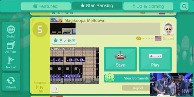 Saiba mais detalhes (com imagens) sobre o compartilhamento online de estágios em Super Mario Maker 4