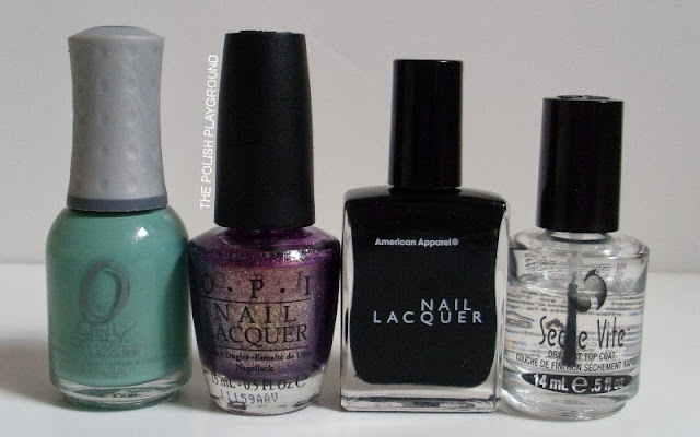Orly, OPI, American Apparel, Seche Vite