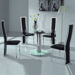 Multinotas mesas de vidrio para comedor for Sillas de comedor para mesa de cristal