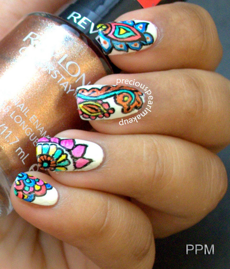 Preciouspearlmakeup Henna Inspired Nails