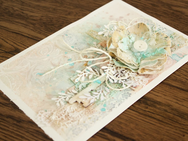 Shabby Chic Journal Page - Step by Step