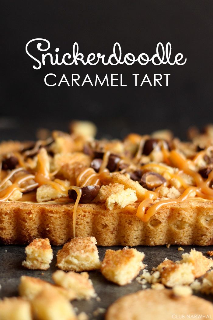 Snickerdoodle Crust Caramel Tart | Club Narwhal