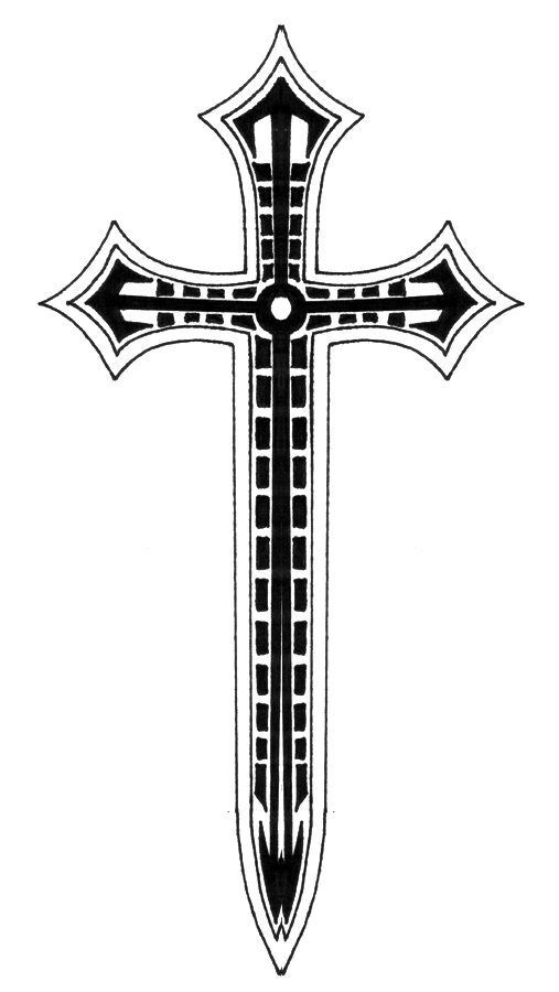 Cross tattoo design all about for Crossed swords tattoo