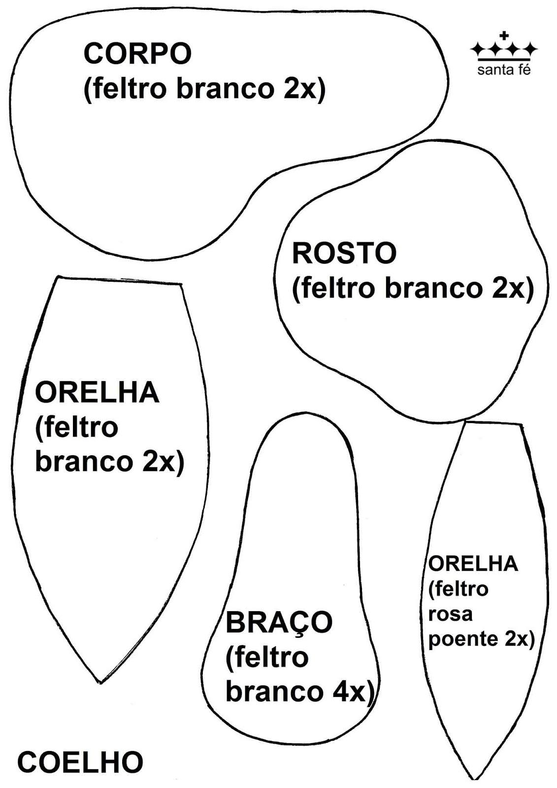 coroa de feltro molde