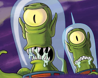 aliens de los simpsons