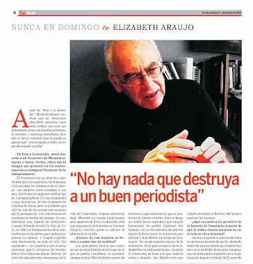 Entrevista a Mario Szichman en Tal Cual