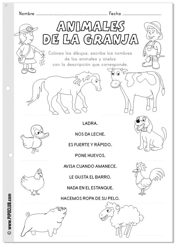 Actividades de animales para preescolar - Imagui