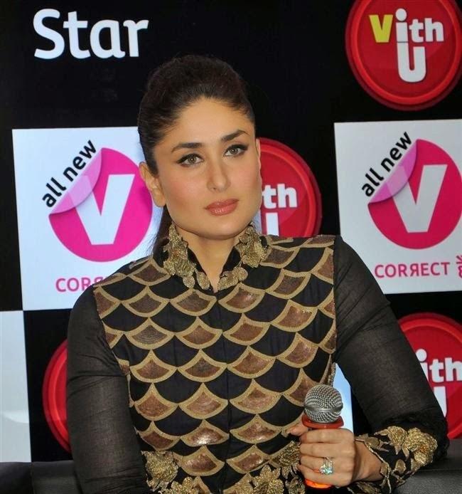Kareena Kapoor Khan :Kareena Kapoor Khan Launching the With u App HD Photos,looks Hot in Her Black Dress