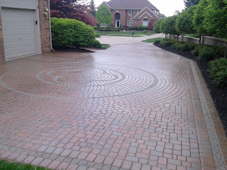 Captivating Brick Paver Sealant Is Available In Several Different Finishes. Matte  Finish And Gloss Are Both Very Popular. This Patio And Driveway Was  Designed And ...