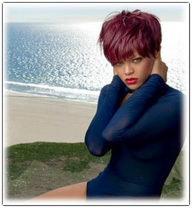 burgundy hair color for black lady