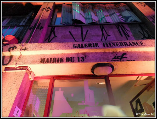 Tour Paris 13 street art galerie Itinnerance Mairie du 13eme entrée