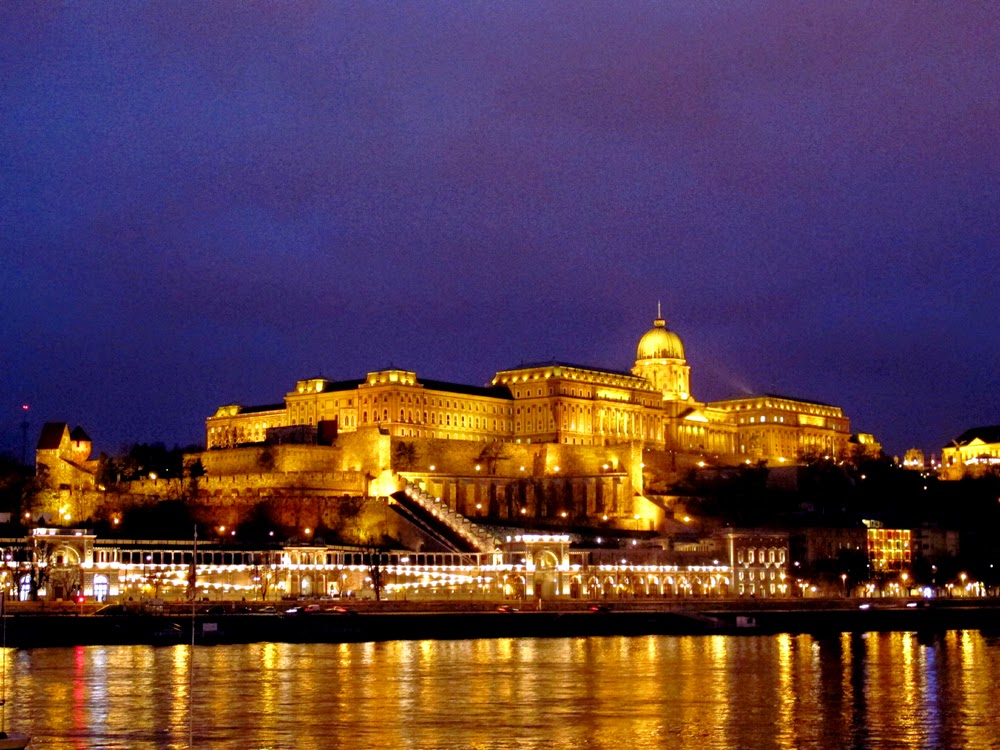 Buda Castle at night, Hungary