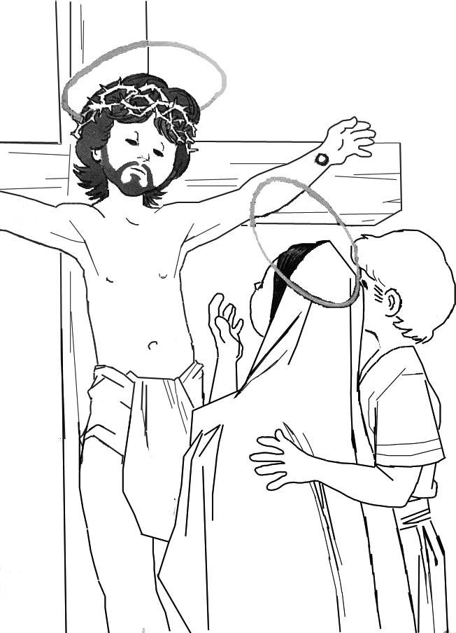Crucifixi  N Infantil Para Colorear