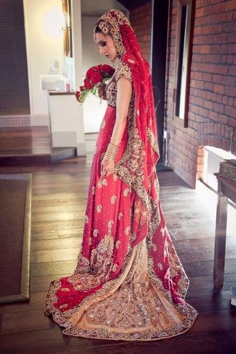 New Pakistani Bridal Dresses 2014