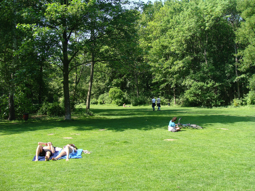 Nudist area in Tiergarten park (Berlin)