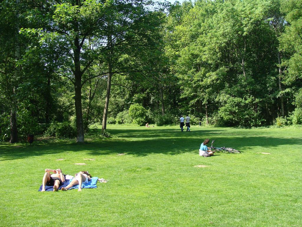 Nudist area in Tiergarten park (Berlin)