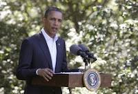 President Obama speaks about Libya on Aug. 22, 2011, at Martha's Vineyard in Massachusetts.
