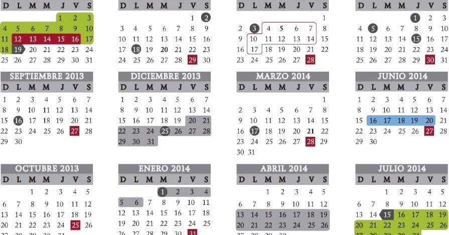 Ciclo Escolar: Calendario Escolar SEP 2013-2014