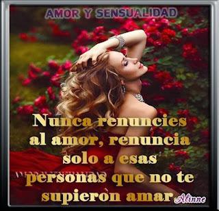 Nunca renuncies al amor