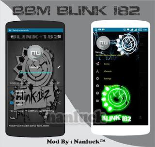 BBM Mod Blink182 V2.10 Apk Clone Terbaru