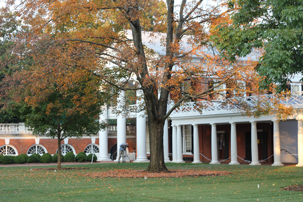 UVa lawn in fall