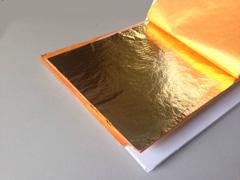 faux imitation gold leaf booklet