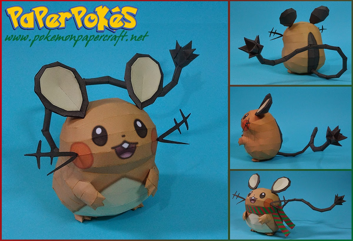 Pokemon Dedenne Papercraft