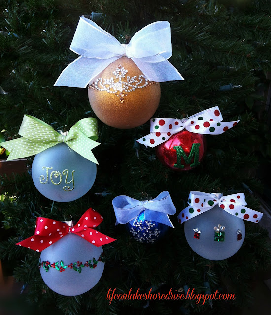 DIY Christmas ornament tutorial diy Christmas ornaments, scrapbooking appliques   Life on Lakeshore Drive