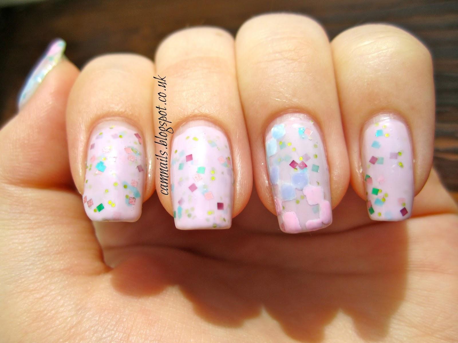 Cambridge Nails Pastel Pixellation Nail Art