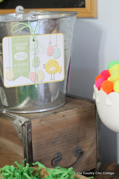 Neon Easter Mantel Decor from The Country Chic Cottage