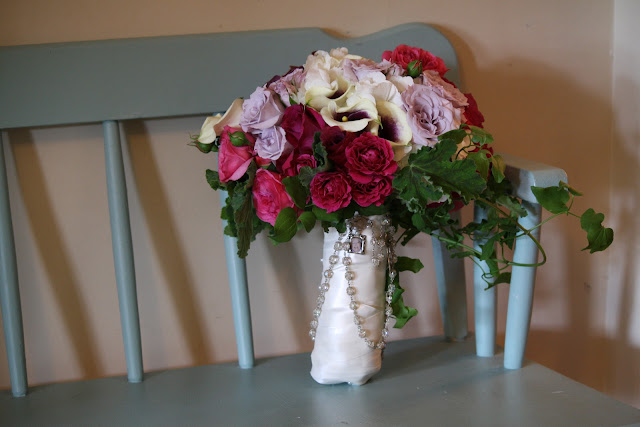 Splendid Stems Event Florals - Bride's Bouquet with locket
