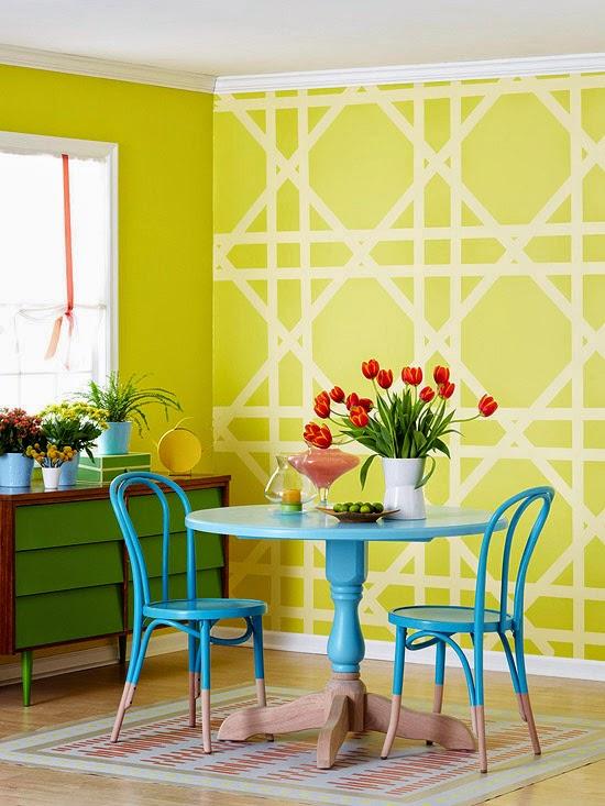 pintura de parede diferente sem gastar muito
