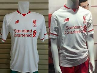 jual online dan gambar detal Jersey Official Liverpool away New Balance terbaru musim 2015/2016 di enkosa sport toko online baju bola terpercaya