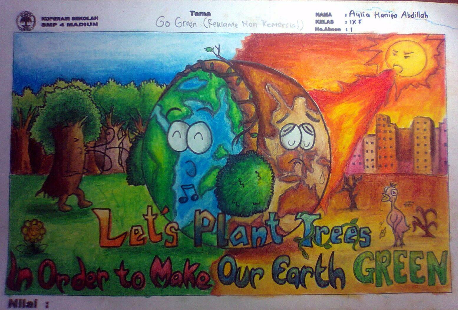 Poster Go Green Reklame Non Komersial D Aulia Hanifa