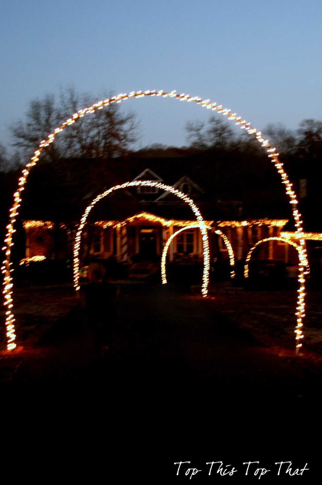 Christmas decor outside the house duke manor farm for Outdoor lighted christmas