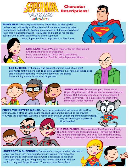 Character Design Ks2 : El azo del comic superman family adventures diseños