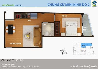 Thiết kế căn hộ chung cư giá rẻ Tây Hồ