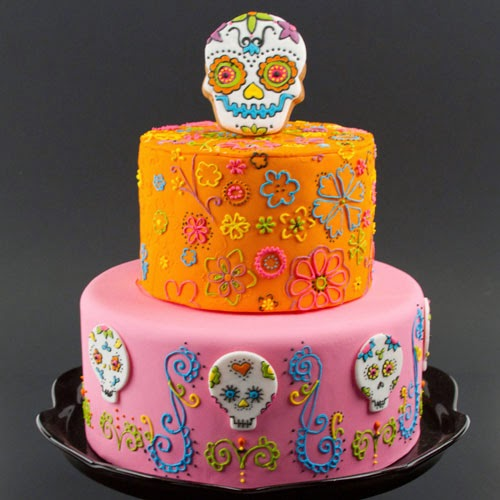 Halloween Cake Decorations Nz : Kiwi Cakes: Day of the dead cake - fun and colourful!