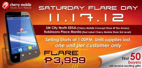 Cherry Mobile Saturday Flare Day